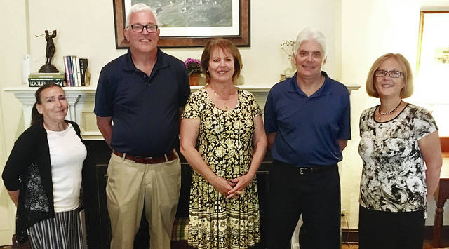 The Urbana City School District Board of Education recently recognized the faculty and staff members who are retiring during the 2018-19 school year. The recognition was held at the District's annual retirement luncheon. Pictured (L to R): Jeanette Gretzinger (18 years), Mike Mays (31 years), Lynn DiLoreto (18 years), Richard Myers (6 years), Peggy Wirick (14 years). Not pictured are Terry Davis (36.5 years) and Charlotte Markin (36 years).