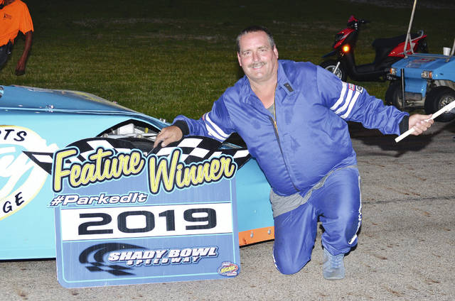 Buddy Townsend (pictured) was the winner of the Dave Nagel Excavating Late Model feature at Shady Bowl on Saturday.