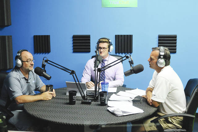Pictured from left are Rick Kauffman, water safety advocate, Justin T. Weller, guest host for Mercy Moments and Dr. Paul Willette, emergency medicine physician for Mercy Health.