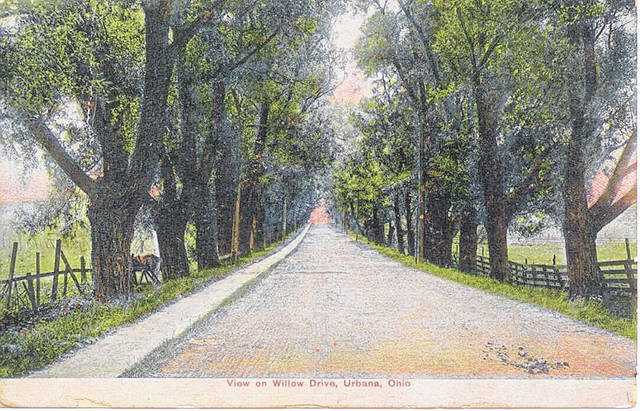 Then: This circa 1910 photo is a southward view of Willow Drive (now Patrick Avenue) in Urbana.