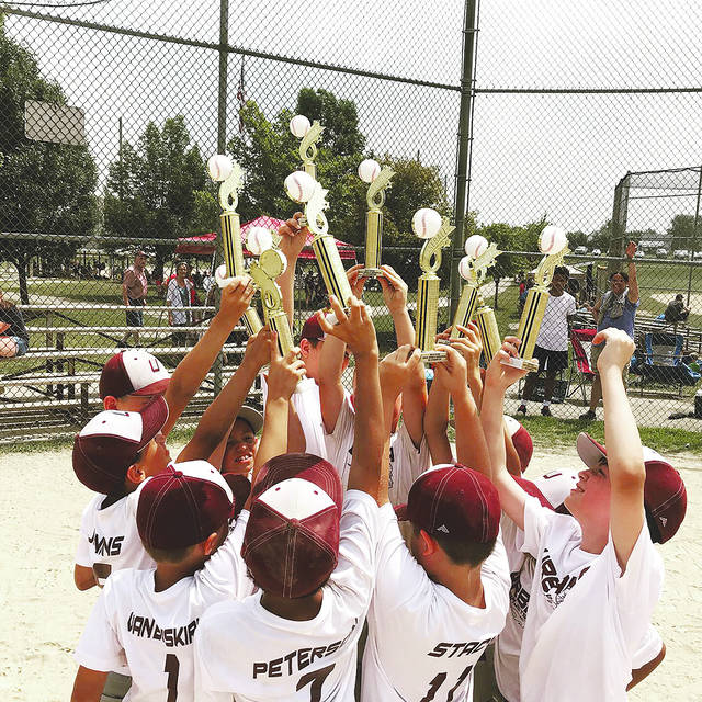 The Urbana 8-u Ramjet Allstars baseball team (pictured) recently won a tournament in St. Paris. The team still has tournaments remaining in Kettering and Monroe this summer.