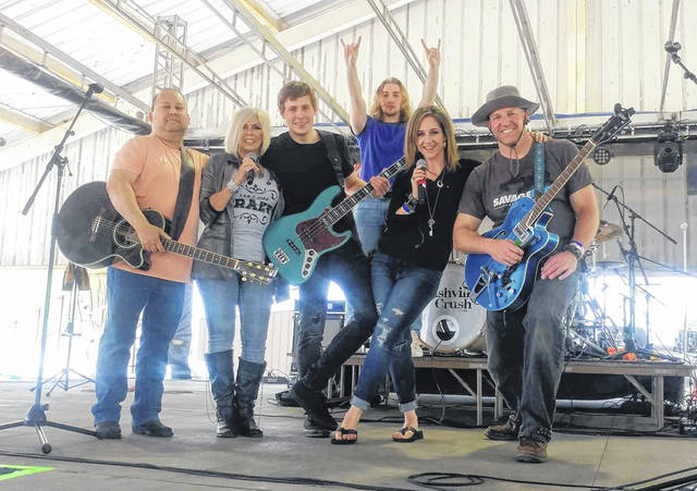 John Tadena, Judi Dunkley, Bill Jacobs, Cody Rettig, Kelli Stephens and Dusty Bair are members of The Shifferly Road Band. Not shown is Kris Waninger.