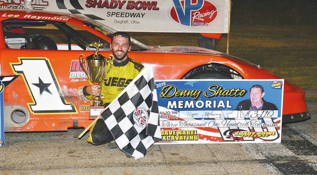 Don Fleming (pictured) won the 110-lap Denny Shatto Memorial at Shady Bowl on Saturday.