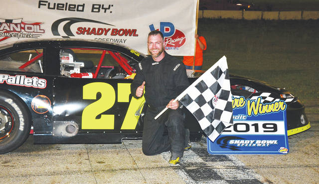 Matthew Parsons (pictured) was the winner of the Dave Nagel Excavating Late Model feature at Shady Bowl Saturday night.