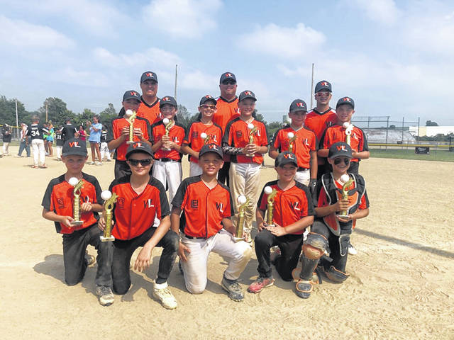 The West Liberty 10U Rec Allstars travelled to St. Paris this past weekend for the Dave Zerkle Memorial and earned a championship. WL defeated Graham AllStars 9-4 and North Lewisburg AllStars 9-3, fell to Graham 11-8, then defeated Graham 10-3 to win the championship. Team members include, front from left, Conner Leichty, Nick Kensler, Sutton Wilcoxon, Shade Smith, Braden Hershberger, middle from left, Tucker Searles, Casey Boyer, Carson Vesey, Aiden Hull, Colton Sachs and Marshal Sutherin. In back are Coaches Larry Searles, Matt Hull and Micah Vesey.
