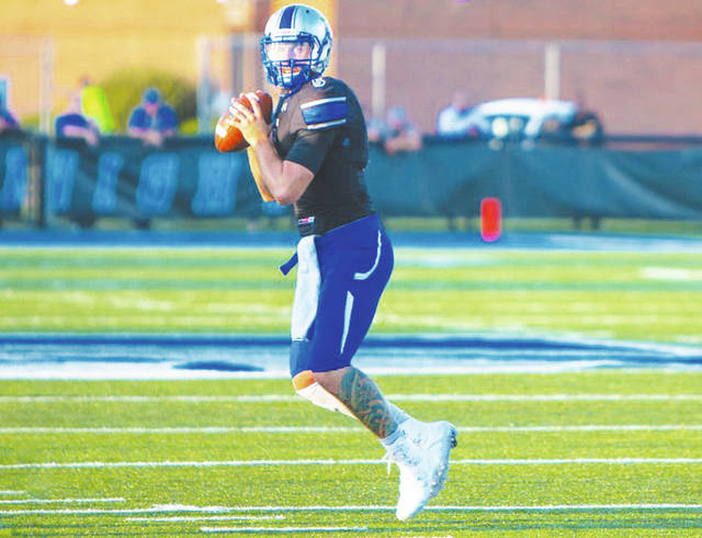 UU quarterback Eddie Stockett (pictured) hopes to lead the Blue Knights to a winning season this year.
