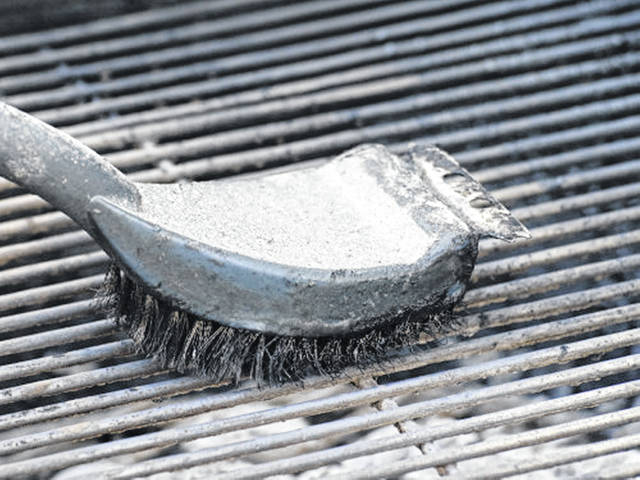 Make sure wire bristles don't wind up in food.