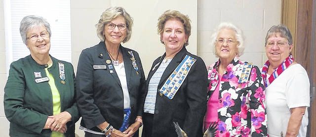 Attending the OSDAR Fall Fun Fair in Columbus on Aug. 17 were, left to right, Becky Shultz, Dona Tullis, Kim Snyder, Judi Henson, Charlotte Roby and (not pictured) Janet Ebert.