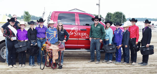 Top Equestrian winners were honored prior to the Horse Sponsorship Auction in a ceremony coordinated by StrideOut RanchWear.