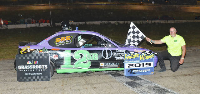 Jeremy Niswonger (pictured) won the Nobel Armor Coating mini-stock feature at Shady Bowl Saturday night.