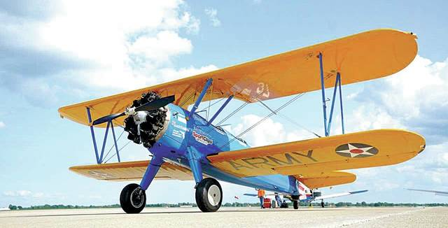 A restored 1940 Boeing Stearman biplane will provide eight U.S. veteran residents of Springfield Masonic Community with individual flights on Aug. 23.