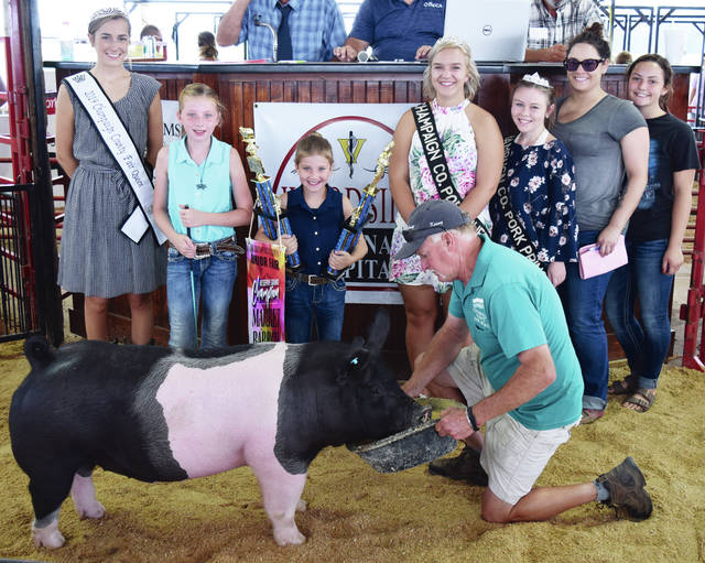 Maleah Erter's Reserve Champion Overall Market Barrow sold for $850 to Kevin O'Brien Crop Insurance