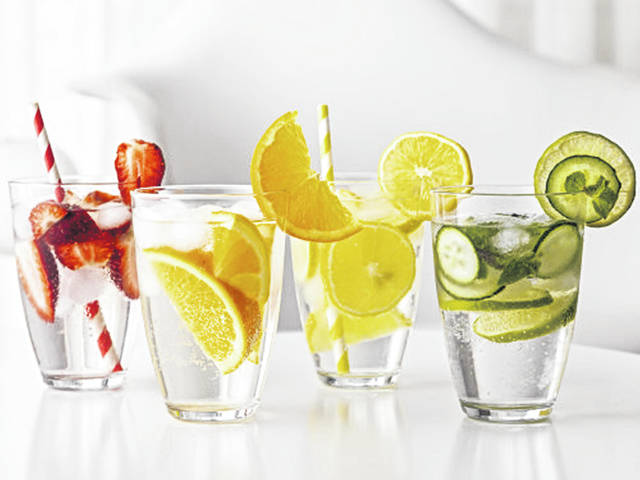 When serving infused water at a party or on a buffet table, treat it like other perishable foods. Add ice to the water and remember that perishable foods should not be left at room temperature for more than two hours.