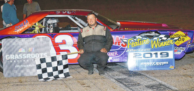 Quincy's Buck Purtee (pictured) won the Amsoil Street Stock main and the Noble Armor Coating mini-stock features at Shady Bowl on Saturday.