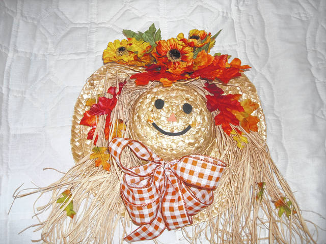 Mechanicsburg's Friends of the Library is sponsoring a Make-It, Take-It Scarecrow Wreath Workshop 10:30 a.m.-noon Saturday, Oct. 5, in the library meeting room. Participants will select from provided materials and use a hot glue gun to create their decoration. Phyllis Powers is the instructor. The cost is $10 for Friends of the Library members and $15 for non-members. This includes all necessary materials. Register at the library or by calling 937-834-2004. Space is limited to 15 participants.
