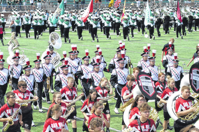 Members of the Graham band are pictured at a recent band day at Ohio University in Athens.