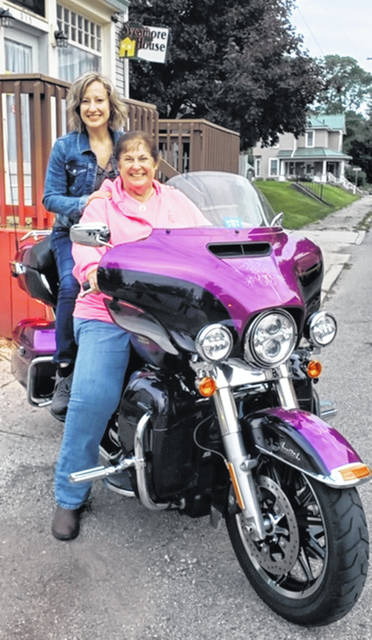 Shown are Sarah McNeely, left, executive director of Sycamore House Pregnancy and Family Life Center, and Ruth Hunsberger, left, administrative director of Springfield Christian Motorcyclists.