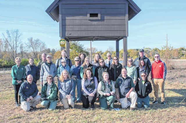 Conservation and outdoor enthusiasts join ODNR and other agencies for the Bat Week kickoff at Pickerington Ponds Metro Park in the Canal Winchester area.