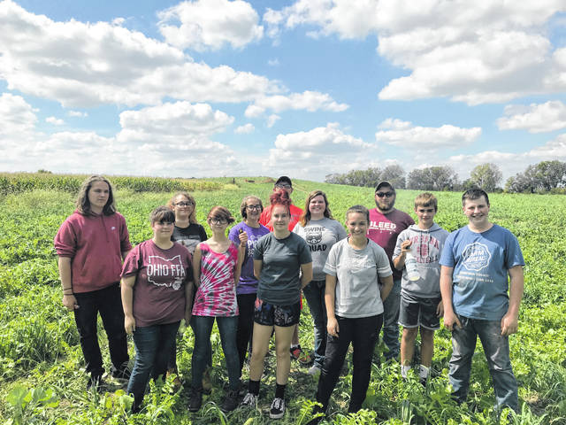 From left are Alistair Greenlee, Marah Kerns, Phoebie Heatherly, Kourtney Hilliard, Ashley Gemienhardt, Abby Dillon, Payton Stambaugh, Janie Wallace, Paige Campbell, Justin Preece, Jonathon Hildebrand and Max Anderson.