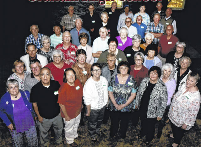 The Graham High School Class of 1964, shown here, celebrated a 55-year reunion Oct. 4-5 at Graham's Homecoming football game and a dinner. Sixty attended, counting classmates and spouses. Reunion activities were organized by Karen Baker English, Kathy Garver Zimmerman and Sally Wickham.