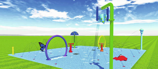 Installation of a Spray N Play Splash Pad at Lions Park in West Liberty is scheduled for Nov. 13, weather permitting. The plan is to open the water feature to youngsters on Memorial Day 2020.