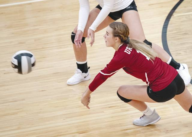 Urbana's Maleah Murphy (pictured) had 17 digs in Saturday's win over Northwestern in the Division II sectional.