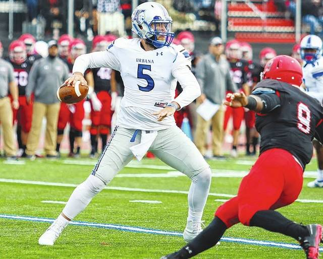 UU quarterback Eddie Stockett (pictured) has been named the MEC offensive player of the week after leading the Blue Knights to a 35-31 win at West Virginia State on Saturday.
