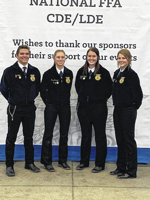 The Livestock team includes Noah Wolf, Grace Forrest, Morgan Hamby and Jennifer Wallace.