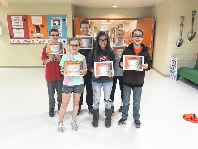 West Liberty-Salem Students of the Month for November are 6th graders Geneva Estep and Dylan King, 7th graders Anna Cole and Luke McGill and 8th graders Karter Spriggs and Emma Bails.