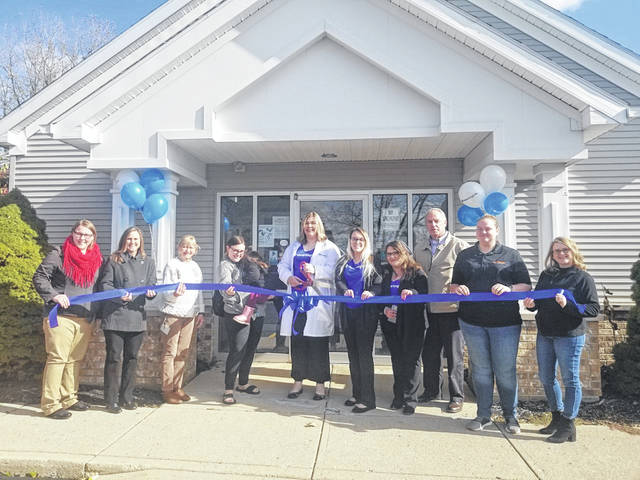 The Champaign County Chamber of Commerce hosted a ribbon-cutting Nov. 8 for HearingLife in Urbana. The rebranded business formerly was Avada Hearing Care Center. From left are Natalie Frueh, Carie King, Liela Anderson, Carol Cox, Stacey Sanchez, Mckenzie Legge, Laura Buddenberg, Kerry Brugger, Liz Wild and Sara Neer.