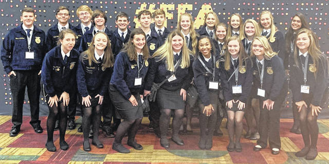 The trip to the National FFA Convention and Expo offered varied activities for the Mechanicsburg FFA Chapter.