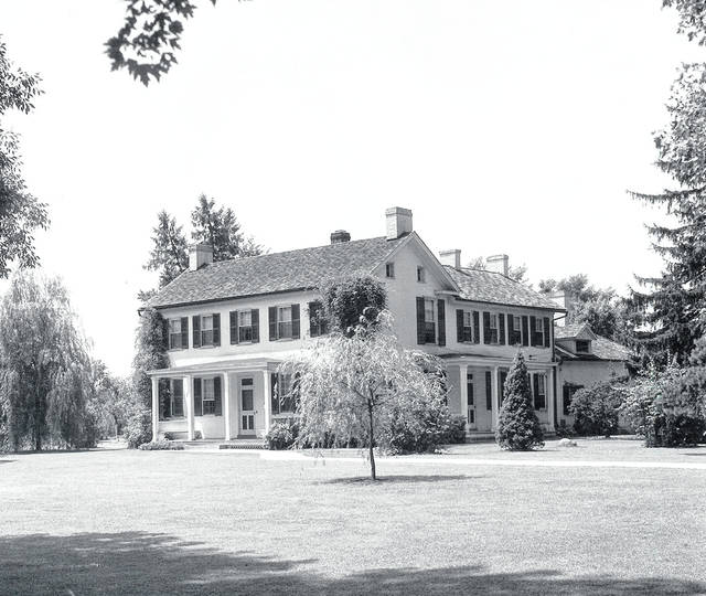 Then - This is a circa 1935 photo of the birthplace of John Quincy Adams Ward, 335 College St., Urbana (southwest corner of South High and College streets).
