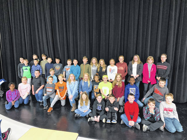 West Liberty-Salem's Breakfast of Champions was attended by back row, from left, Blaine Hughes, Casey Boyer, Thaddeus Kitchen, third row, Connor Leichty, Troy Christison, Noah Sarver, Braydon Hershberger, Patrick Brooks, Levi Yelton, Kash LeVan, Sophia Landon, Audriana Evilsizor, Claire Ling, Belle Sarver, Zoe Carter, Jill Fullenkamp, Zack Carter, second row, Alauna Kinchen, Kathy Roehm, Carter Henderson, Bennet Sutherin, David Roberts, Josiah Thomas, Ashlyn Taylor, Ellery Wygal, Arianna Weaver, Emma Schmelzer, Alanee Horsley, Asher Cole, Carson Spencer, front row, Rachel Stanford, Brayan Gullett, Logan Zanifrov, Jerome Cordrey, Derek Wall, Reagan McCullough.