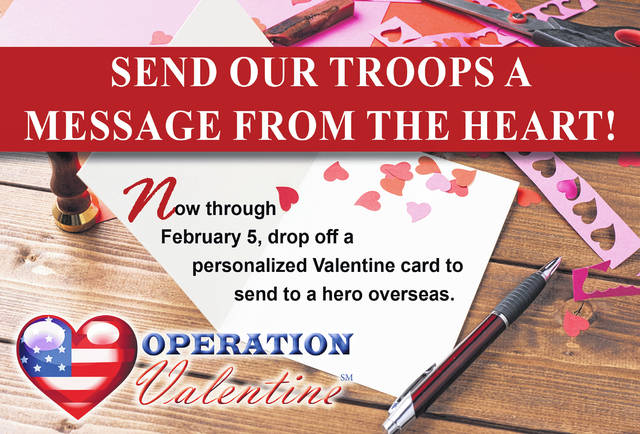 Valentine cards may be dropped off from now thru February 5 between 9 a.m. and 5 pm. at Walter & Lewis Funeral & Cremation Services 642 S. Main, Urbana.