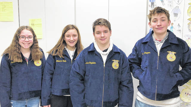 West Liberty-Salem freshmen Kiersten Holtvoigt, Makenna Smith, Adam Stapleton and Travis Cropper received their first FFA Jackets free thanks to BECK's Hybrids, a family-owned seed company that serves much of the midwest. Beyond its place in Official Dress, an FFA corduroy jacket is an article of faith, honor and pride. The jacket unifies members in a long-standing tradition and reminds them that they are part of something larger than themselves. Nine first year FFA members from WL-S have received scholarships from BECK's hybrids in the past three years. Thousands of students apply every year for the scholarship.