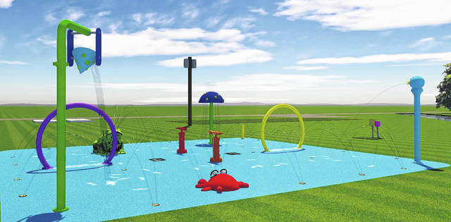 A Spray N Play Splash Pad is to be installed at Lions Park in West Liberty in March. Opening day is set for May 23.