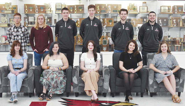 Pictured are the candidates for Triad High School's Sadie Court. In the back row left to right are freshman Kyle Walborn, sophomore Hayden Simpson, junior Maison Johnson, senior Andrew O-Neal, senior Dillon Nott and senior Greg Sizemore. In the front row left to right are sophomore Kylie Hunter, junior Vendalyn Culp, senior Lydiah Wenger, senior Madison Dixon and senior Carsyn Thomas (not pictured: freshman Makayli Brautigam).
