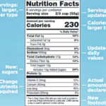 New nutrition labels reflect more accurate serving sizes