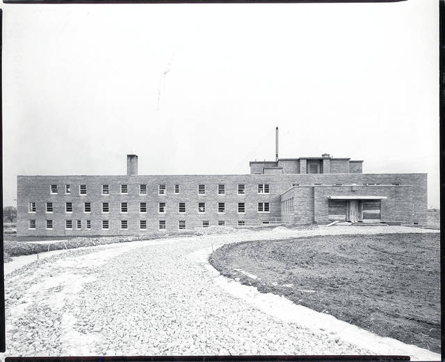 Then - This 1950 photo of Mercy Memorial Hospital was taken about a year before the facility's open house.