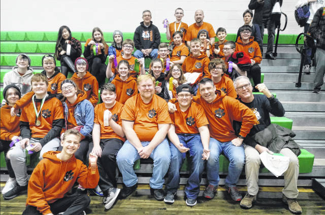 Pictured are, from left in front row, Joy Hudson, Sari Kitchen, Edie Keller, Emily Asbury, Emery Longaberger, Abby Miller, Brock Burgel, Jaelyn Smith, Brady Kauffman, Nathan Neuerman, Marshall Sutherin, Cameron Spencer, John Benedict, back row, Aaron Taylor, Aiden Taylor, Shane Burgel, Evan Casto, Quentin Rudolph, Veronica Wall, Lily Smith, Greyson Horsley, Hanna Schwaderer, Max Rudolph, Craig Stanford, Carter Titus, Shiloh Spencer, Maddox Havens and Bailee Wick.