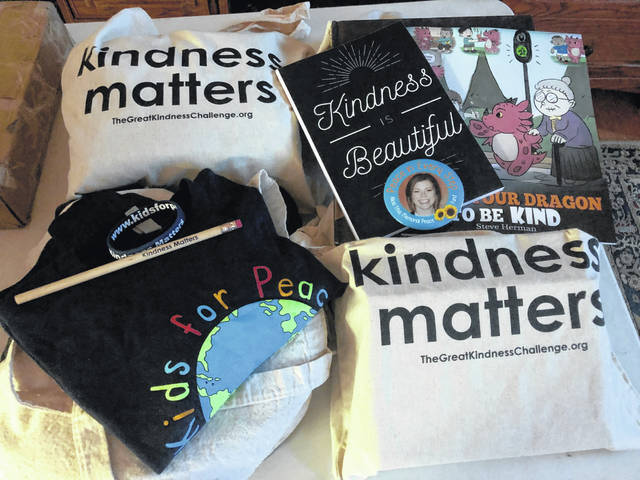 Pictured are Kindness Matters items provided to local schools during the Great Kindness Challenge in January. Over 5,600 students, faculty, staff and community members participated.