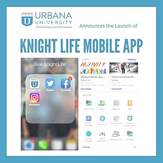 "Students can keep tabs on UU happenings with the new ""Urbana Knight Life"" student app."