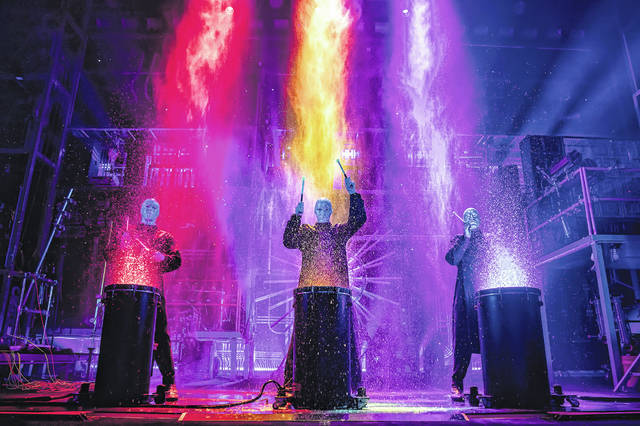 The Blue Man Group will appear at the Clark State Performing Arts Center on March 10.