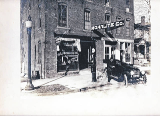 Then - This 1916 photo is of the Mohrlite Co., manufacturer of lighting fixtures, on the northwest corner of South Main and West Water streets, Urbana.