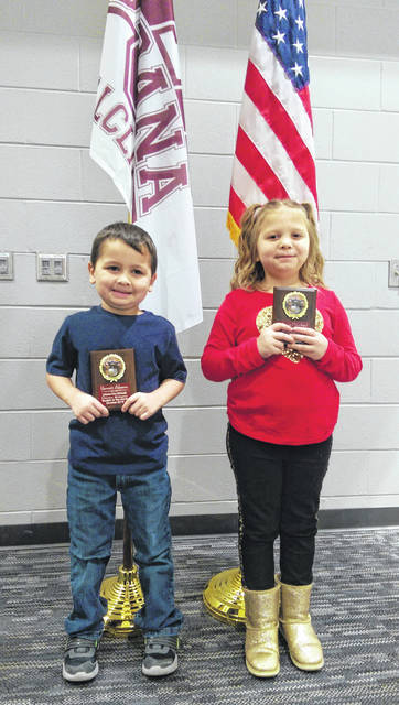 Urbana Elementary's October Students of the Month are Barret Abrams, kindergarten, and Alyssa Swan, 1st grade.