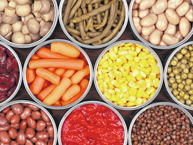 Canned food and other nonperishable food is good to have on hand in case of emergency.