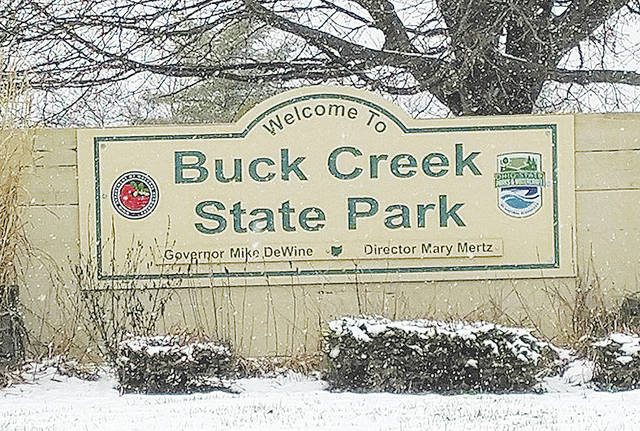 Buck Creek State Park and all state parks are open with limited operations. This photo was taken March 14 when there was still snow on the ground.
