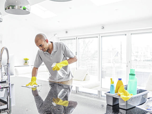Since current evidence suggests that the novel coronavirus can remain viable for hours or days on a variety of surfaces, cleaning of high-touch surfaces such as door handles and counters followed by disinfection is recommended by the CDC.