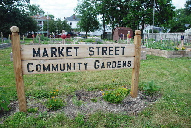 Urbana's own Market Street Gardens, pictured here in May of 2016, is a fine example of community garden plots and how much food can be grown in a small area.