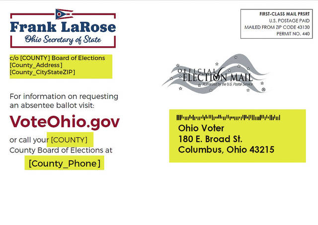 Ohioans will receive postcards in the mail (depicted above) ensuring they know how to help complete the state's March 17 primary election.